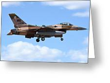 An F-16c Fighting Falcon From 64th Greeting Card