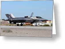 An F-35b Lightning II Landing At Marine Greeting Card