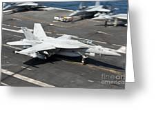 An Fa-18e Super Hornet Hooks An Greeting Card