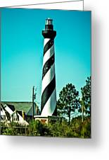 An Image Of Lighthouse In Small Town Greeting Card