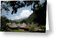 An Indigenous Village In The Jungles Greeting Card