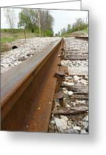 An Inspection Failure Of Train Tracks 6 Greeting Card