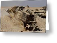 An Israel Defense Force Caterpillar D-9 Greeting Card