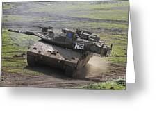 An Israel Defense Force Merkava Mark Iv Greeting Card