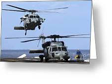 An Mh-60s Sea Hawk Approaches Greeting Card