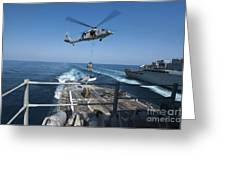 An Mh-60s Sea Hawk Brings Pallets Greeting Card