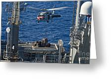 An Mh-60s Sea Hawk Delivers Supplies Greeting Card