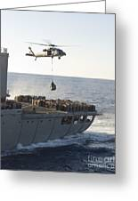 An Mh-60s Sea Hawk Helicopter Carries Greeting Card