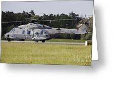 An Nh90 Helicopter Of The Italian Navy Greeting Card