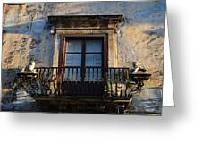 An Old Balcony In Syracuse Greeting Card