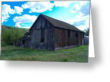 An Old Barn In The Sage Greeting Card
