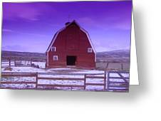 An Old Barn In The Wenas Greeting Card