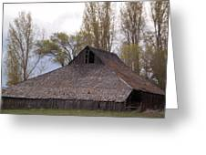An Old Barn Near Klamath Falls Greeting Card