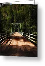 An Old Bridge Crossing The Seleway River  Greeting Card