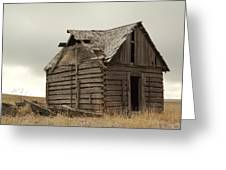 An Old Cabin In Eastern Montana Greeting Card