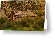 An Old Cabin In Utah Greeting Card