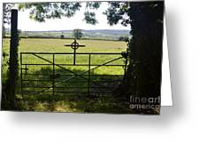 An Old Cemetery Gate Greeting Card