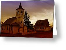 An Old Church In Williston North Dakota  Greeting Card by Jeff Swan
