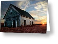 An Old Farm House Sits Partially Buried Greeting Card