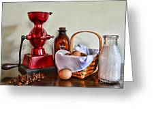 An Old Fashion Breakfast Greeting Card
