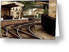 An Old-fashioned Train Station Greeting Card