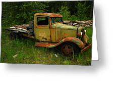 An Old Flatbed Greeting Card