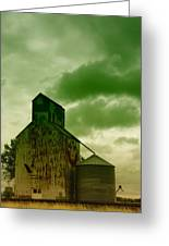 An Old Grain Silo In Eastern Montana Greeting Card