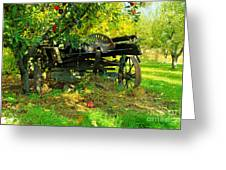 An Old Harvest Wagon Greeting Card