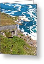 An Old  Hydroelectric Generating Station Greeting Card