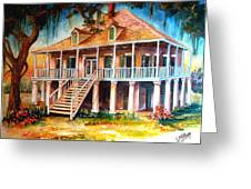 An Old Louisiana Planters House Greeting Card