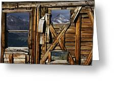 An Old Miners Shack With A View Greeting Card