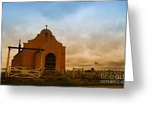 An Old Mission In Northeastern Montana Greeting Card