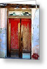 An Old Red Door Greeting Card