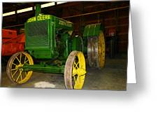 An Old Restored John Deere Greeting Card