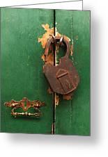 An Old Rusty Lock Greeting Card