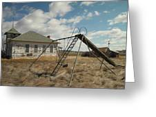 An Old School Near Miles City Montana Greeting Card