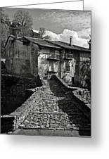 An Old Spanish Town Puente De Montanana Greeting Card
