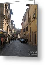 An Old Street In Assisi Italy  Greeting Card