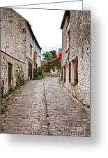 An Old Village Street Greeting Card by Olivier Le Queinec