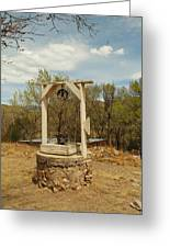 An Old Well In Lincoln City New Mexico Greeting Card