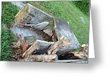 An Open Grave's Rubble Greeting Card