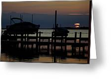 An Outer Anks Of North Carolina Sunset Greeting Card
