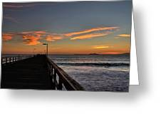 Anacapa Island Pier Greeting Card