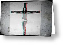 Anaglyph Asian Female Jesus Greeting Card