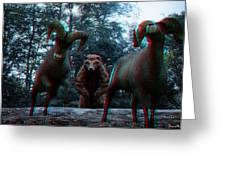 Anaglyph Wild Animals Greeting Card