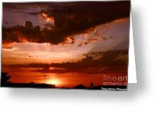 Anaheim Sunset Greeting Card