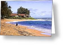 Anahola Beach Kauai Greeting Card