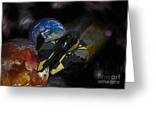 10115 Anakin's Starfighter Greeting Card