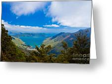 Anakoha Bay Of Marlborough Sounds In New Zealand Greeting Card