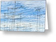 Analog Television Aerials Greeting Card